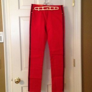 C. Wonder Pants - Red Tuxedo skinny jeans C.Wonder Sz. 28