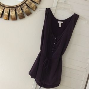 J Crew aubergine washed silk top