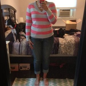Pink & Gray OLD NAVY striped shirt!