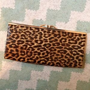 ASOS leopard clutch (with gold chain strap!)