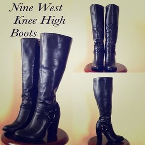 Nine West Knee High Boots in Black