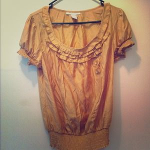Yellow silky blouse