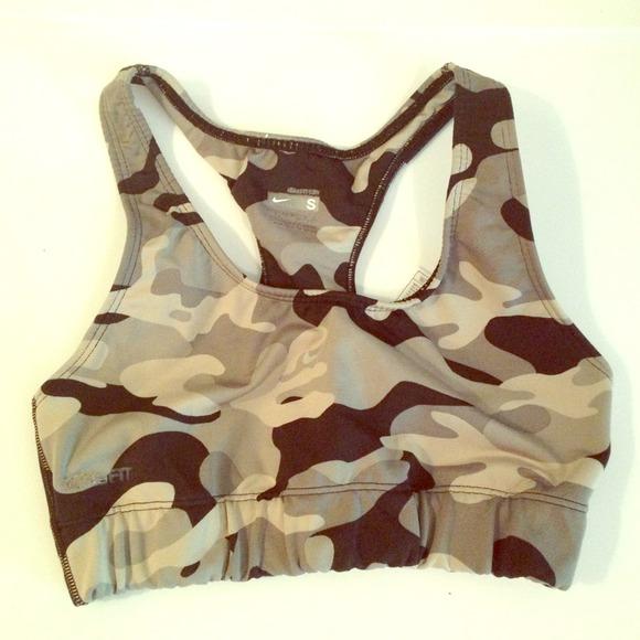 nike camouflage sports bra