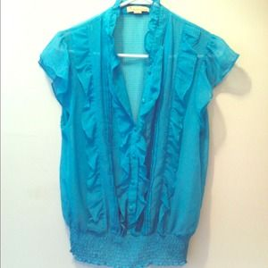 Turquoise Blouse.