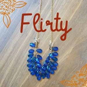 Cobalt blue necklace from Baublebar