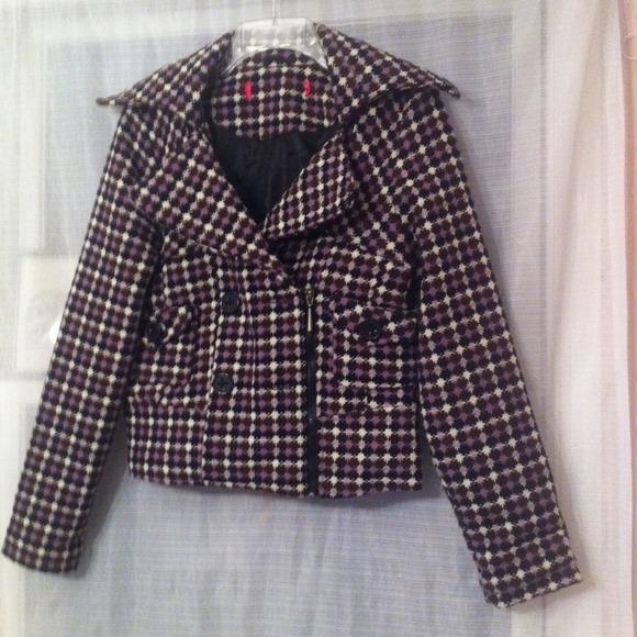 Jackets & Blazers - Purple checkered jacket *REDUCED*