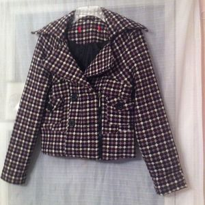Jackets & Blazers - Purple checkered jacket *REDUCED*