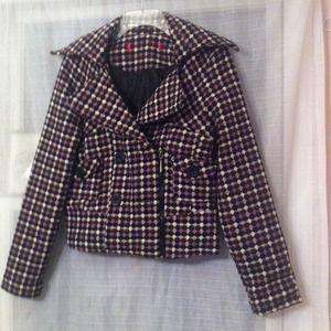 Jackets & Coats - Purple checkered jacket *REDUCED*