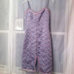 Betsey Johnson Dresses - Silver dress with pink threading *REDUCED*