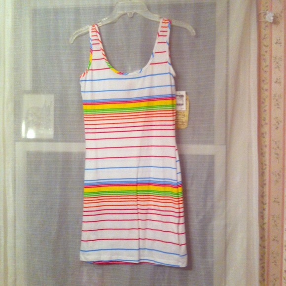 Charlotte Russe Dresses & Skirts - Striped white bodycon tank dress
