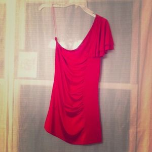 Tops - Pink one shoulder top. *REDUCED*