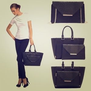 Handbags - Handbag w/detachable Clutch