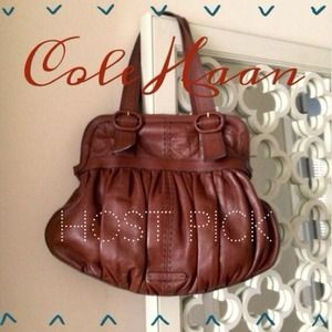 Cole Haan Handbags - 🎉HOST PICK🎉Cole Haan Cognac leather handbag