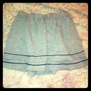Blue Pinstripe Skirt