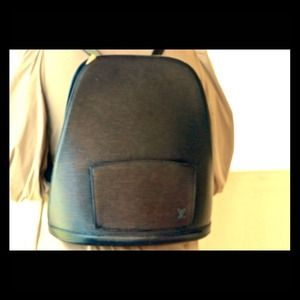 Louis Vuitton Black Epi Leather Gobelins Backpack.