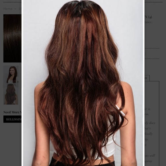38% off Bellami Accessories - CHOCOLATE BROWN HAIR EXTENSIONS from ...