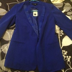 Royal blue boyfriend blazer