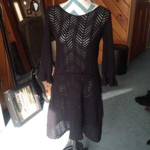 AKA New York Dresses & Skirts - AKA black crochet dress