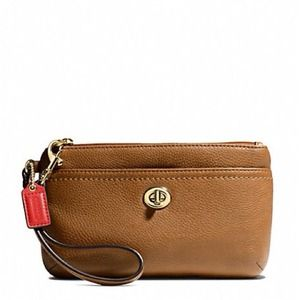 Coach Park Leather Medium Wristlet