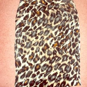 Cheetah print knee length skirt!