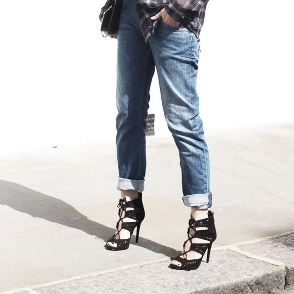 Zara - Zara Lace Up Heels Size 6.5 from Alison's closet on Poshmark