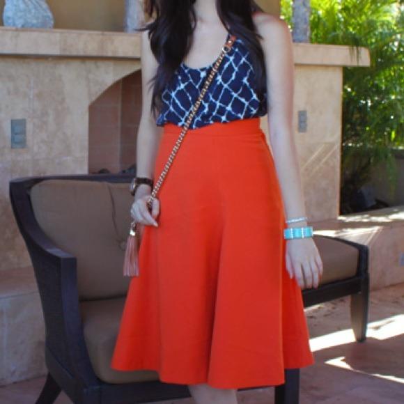 517515dc4a H&M Dresses & Skirts - H&M Orange Midi Skirt