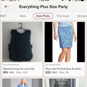 Skirts - 🎉Host Pick🎉Plus size Printed blue & white skirt