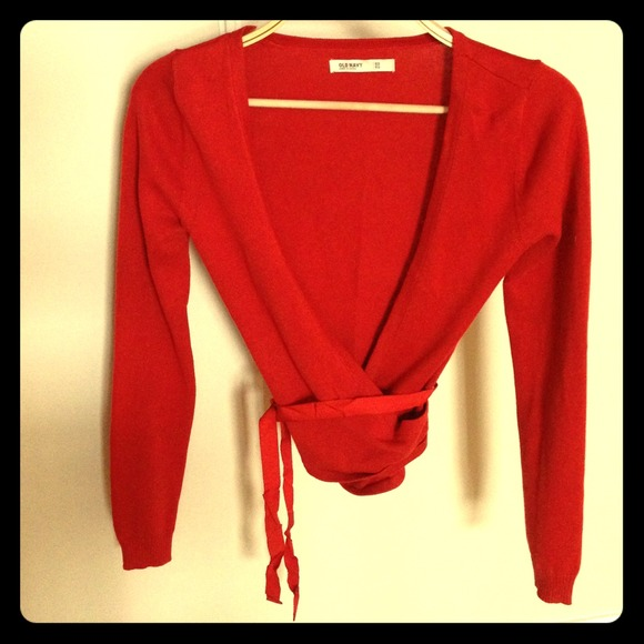 59% off Old Navy Sweaters - [SOLD IN BUNDLE] Tomato Red Wrap ...