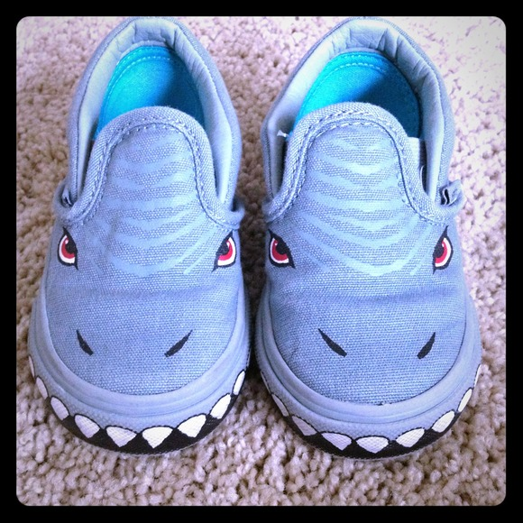 Vans Other - Shark slip-on vans toddler 5.5 db2e60bf3