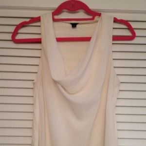 Ann Taylor Tops - White cowl neck blouse