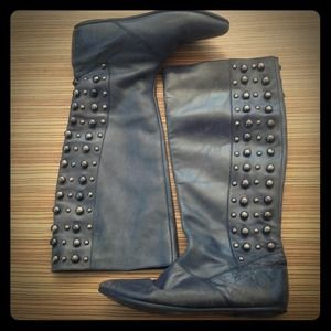 Topshop studded leather boots