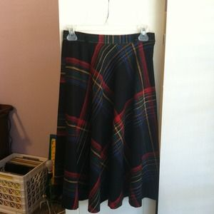 Host Pick!Vintage plaid circle midi skirt