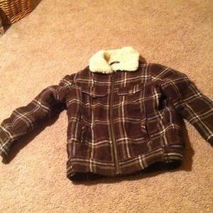 Size 7-8 boys H&m boys heavy coat 40% wool