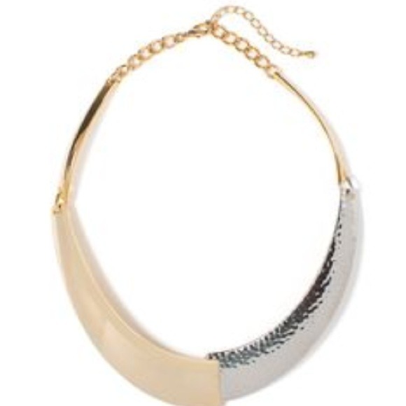 JewelMint Jewelry - Mixed Silver/Gold Metal Collar Necklace