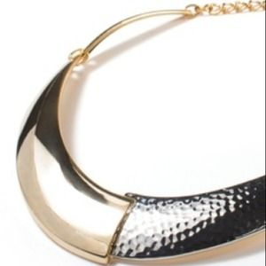 JewelMint Jewelry - Mixed Silver/Gold Metal Collar Necklace 3