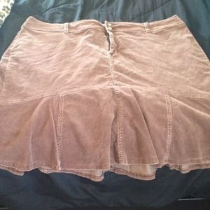 Flirty brown corduroy skirt