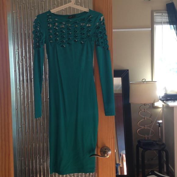 ASOS Dresses - 🚫SOLD on EBAY🚫ASOS teal midi bodycon sz 0-2