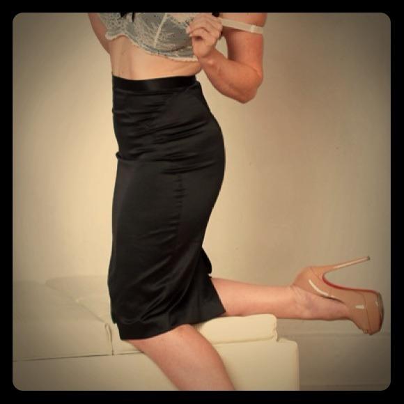 64% off Roberto Cavalli Dresses & Skirts - Black Cavalli Satin ...