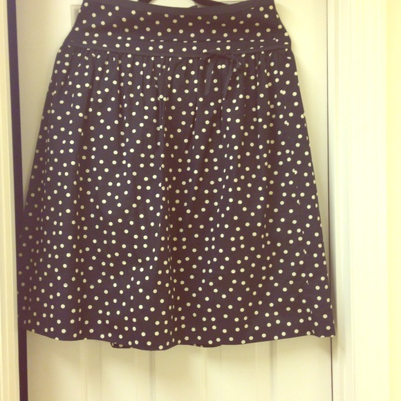 68% off J. Crew Dresses & Skirts - J crew navy and cream polka dot ...