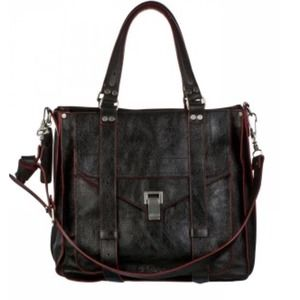 Proenza Schouler PS1 Tote Bag in Black w Pink Trim