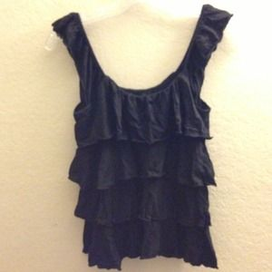 Express black tiered top