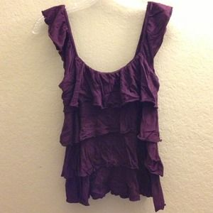 Express purple tiered top