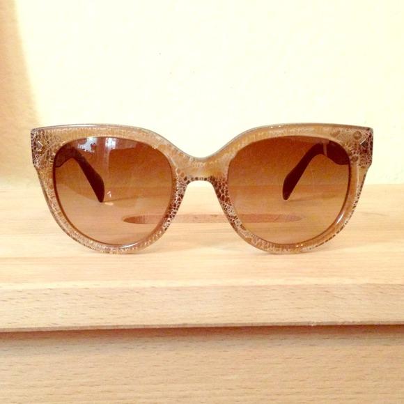 a749a4685a4b PRADA Lace Sand Cat Eye Sunglasses