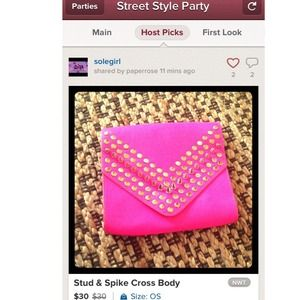 Clutches & Wallets - 💕💜 HOST PICK 09/15💜💕 Stud & Spike Cross Body