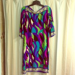 SOLD / Brightly colored tunic dress