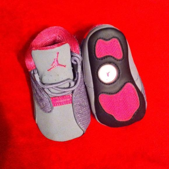 Adorable Pink Grey Infant Jordans