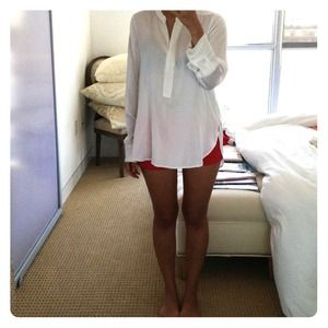 VINCE white long sleeve blouse