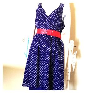 BNWT GAP Navy Polka Dot Dress!