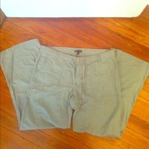 Olive green size 14 Gap Factory linen pants