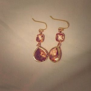 Gold and Pale Pink Earrings